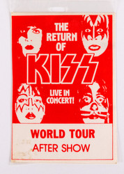 KISS Backstage Pass - Dynasty World Tour After Show, red, (reproduction)