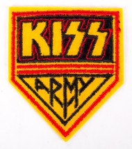 KISS Patch - KISS Army Logo, yellow fill.