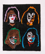 KISS Patch - Solo Faces, (3.5 inch).