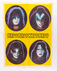 KISS Poster - Solo Faces Carnival '70s