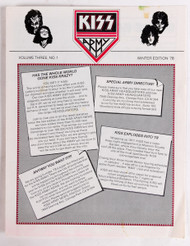 KISS Army Newsletter - Volume Three, NO.1, Winter 1978