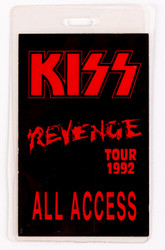 KISS Backstage Pass - Revenge 1992 CLUB TOUR.