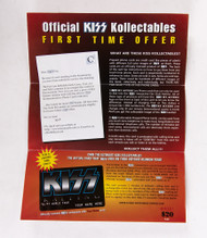 KISS Flier - KISS Phonecard ad, 1996