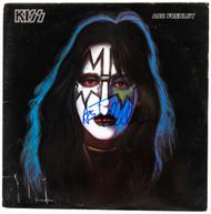 """KISS Autograph - Ace Solo 12"""" Vinyl Album, (blue marker)"""
