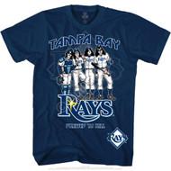 KISS T-Shirt - Tampa Bay Rays MLB Baseball, (size M only).