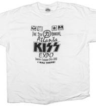 KISS T-Shirt - Atlanta KISS Expo 2002 white, (size XL).