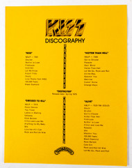 KISS Army Fan Club Kit Discography - Alive! 1975