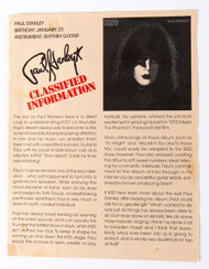 KISS Army Fan Club Kit - Classified Information 1978