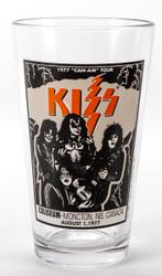 KISS Pint Glass - 1977 Can-AM