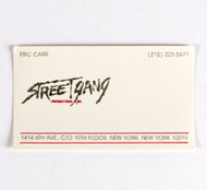 Eric Carr Business Card - StreetGang Productions, (a)