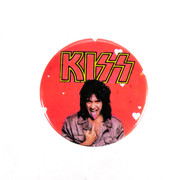 KISS Button - Gene tongue, hearts, no makeup