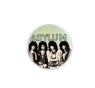 KISS Button - Asylum, B&W