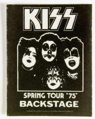 KISS Backstage Pass - Spring Tour '75, (reproduction)