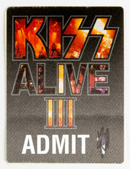 KISS Backstage Pass -  KISS Alive III Party Pass.