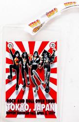 KISS Backstage Pass Laminate - Tokyo Japan 77, w/KISS logo lanyard, (reproduction)