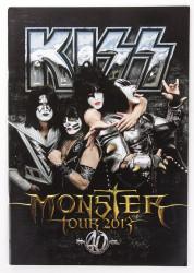 KISS Tourbook - Monster, 2013, 40th Anniversary.