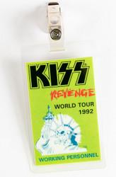 KISS Backstage Pass - Revenge laminate, green, (reproduction).