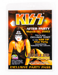 KISS Laminate - KISS After Party Pass, Las Vegas 2003.
