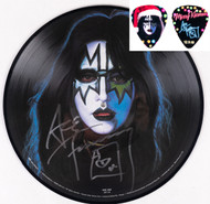 KISS Autograph - Ace Frehley Solo Album Picture Disk, (plus bonus pick)