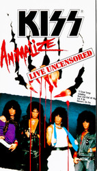 KISS Video - Animalize Live Uncensored VHS 1984, (Japan)