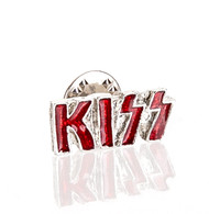 KISS Pin - KISS Logo Metal and Red, vingage '80s