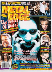 KISS Magazine - Metal Edge, Manson/KISS center pull-out