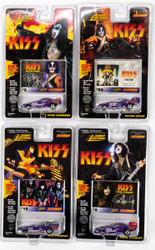 KISS Johnny Lightning Cars - Dragster Cars, Set of 4, (cards #2, 5, 15 and 50) - PURPLE