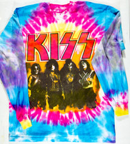 KISS T-Shirt - Alive Worldwide 1996, Long Sleeve Tie Dye, (size 2XL)