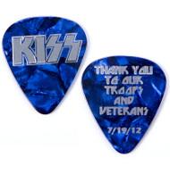 KISS Guitar Pick - Thank You Troops and Veterans pre-tour pick, 7/19/12 (cobalt blue).