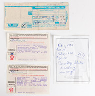 KISS Autograph - Peter Criss signed receipts and other handwriting