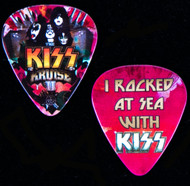 KISS Guitar Pick - KISS Kruise II, I Rocked at Sea with KISS, (red)