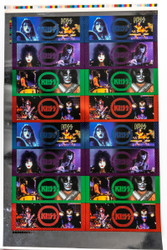 KISS Trading Cards - Cornerstone Series 2 Colored Foil Chase Sheet of 32 - UNCUT.