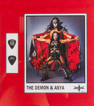 KISS Photo - The Demon Wrestler Autograph and picks