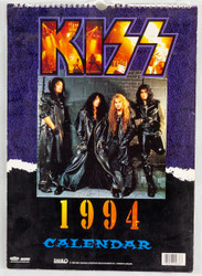 KISS Calendar - 1994, U.S., (open)