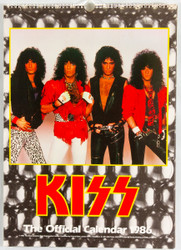 KISS Calendar - 1986, British, (open)
