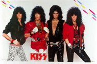 KISS Poster - Asylum Studio, White Background, 1985, (tack holes)