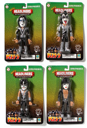 KISS Figures - Poseables, (set of 4)