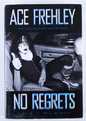 KISS Autograph - Ace Frehley No Regrets Book, (signed in black marker)