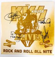 """KISS Autographs - Kruise V 2015,  KISS 12"""" Vinyl LP Record, (7/10)"""