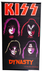 KISS Window Shade - Solo Faces / Dynasty, (open)
