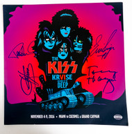 "KISS Autographs - Kruise VI 2015,  KISS 12"" Vinyl LP Record, (7/10)"
