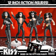 "KISS First Album 1973-Style Figures - 12"" complete set,  (of 4)"