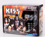 KISS Pint Glass - Icons, (set of 2)