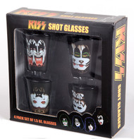 KISS Shot Glasses - Mirror Faces, (set of 4)