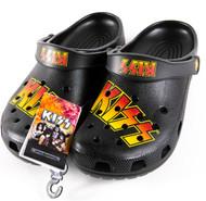 KISS Shoes - Crocs, logo, (unisex M/8, W/10)