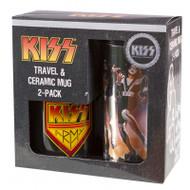 KISS Travel and Ceramic Mug 2-pack Gift Box.