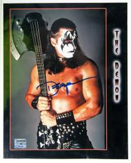 KISS Photo - The Demon Wrestler Autograph 8 x 10 w/Axe Bass