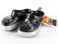 KISS Shoes - Crocs, 45th Anniversary Black/Silver, (unisex M/2, W/4)
