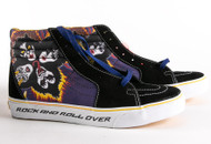 KISS Vans High-top Shoes - Rock and Roll Over, (men's size 9.5)