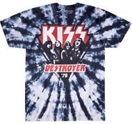 KISS T-Shirt - Destroyer '76 Tie-Dye Triangle, (size L)